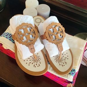 Tory Burch Scalloped Sandals- 8.5